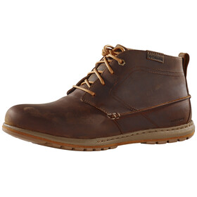 Columbia Davenport Chukka Shoes Men WP Leather brown
